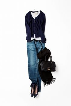 Denim - Navy Cardigan