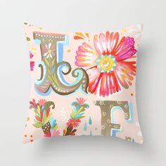 LOVE Throw Pillow by Katie Daisy - $20.00