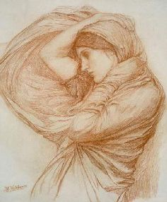Waterhouse John William - Study for 'Boreas'