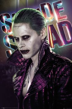 The Joker is unsure about you, you'd better watch out! Poster from DC Comics Suicide Squad with a close-up image of Jared Leto as The Joker. Jared Leto Joker, Joker Poster, Marvel Dc, Dc Comics, Kino News, Harley Quinn Et Le Joker, Harey Quinn, The Joker, Suicide Squad