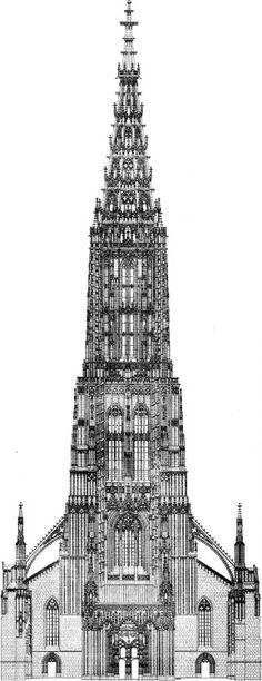 Elevation of the Minster, Ulm