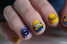Minion nails on my friend Mathilde