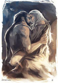 PRINT Drogo and Daenerys Khal & Khaleesi