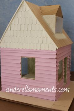 Cinderella Moments: Jen's Cottage- Pink! jumbo popsicle sticks