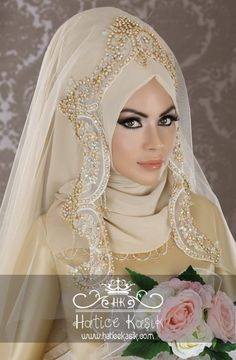 Latest Bridal Hijab Styles Dresses Designs Collection consists of Asian, desi fashion & Arabic fancy hijab dresses, gowns and frocks, maxis, etc Muslimah Wedding Dress, Hijab Style Dress, Muslim Wedding Dresses, Hijab Bride, Bridal Dresses, Wedding Gowns, Bridal Hijab Styles, Muslim Women Fashion, Wedding Wear