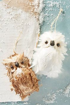Woodsy Christmas|Feathered Owl Ornament|Anthropologie