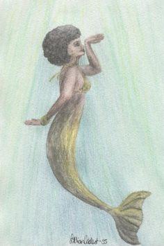 """Golden Mermaid"" by Lillian Moe Vadset"