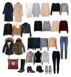 Winter wardrobe by elizabethsungte on Polyvore featuring polyvore, moda, style, Chanel, Acne Studios, Tory Burch, 360cashmere, T By Alexander Wang, M.i.h Jeans, Vince, See by Chloé, James Perse, American Vintage, Helmut Lang, MANGO, Gap, Paige Denim, Miss Selfridge, Hollister Co., River Island, Rupert Sanderson, Giuseppe Zanotti, Monsoon, Converse, fashion, clothing, Winter, minimal, wardrobe and capsule
