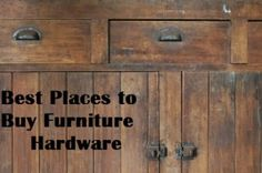"The best way to add the ""wow"" factor to an old piece of furniture (or even a new one) is to replace the hardware.  Fancy hardware can make an ""eh"" piece of furniture look amazing.  In fact, I went looking for a dresser for my daughter, and couldn't find anything …"