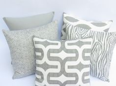 One Grey Pillow Cover: Mix and Match fits an 18x18 inch pillow Decorative grey pillow Grey Throw Pillow on Etsy, $16.00