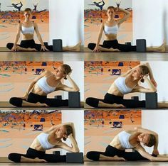 SIDE BENDS AND USING BLOCKS- especially for tight left side Yin Yoga Sequence, Yoga Sequences, Stretches, Yoga Exercises