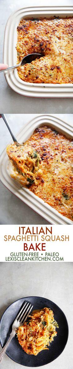 Italian-Style Spaghetti Squash Bake - Lexi's Clean Kitchen