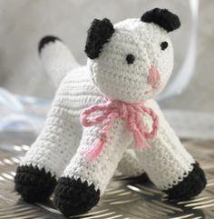 Crochet cat - Danish pattern (have to use google translator)