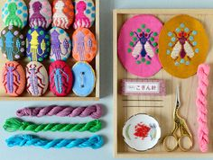 """Check out this @Behance project: """"Koginzashi Embroidered Brooches - Part 2"""" https://www.behance.net/gallery/59222407/Koginzashi-Embroidered-Brooches-Part-2"""