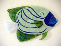 Fused+Glass+Funky+Artist   Liquid Glass Angelfish