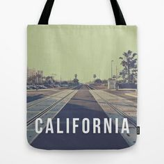 California On the Tracks Tote Bag $22