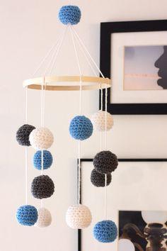 Crochet ball baby mobile  on Etsy, $44.00