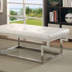 Furniture Of America Enya White Bench CM-BN6912WH