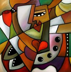 oil pastel art | ... Of Fluxus - by Thomas C. Fedro from Contemporary Cubism Art Gallery