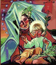 Z.S Sacred Art, Madonna, Poland, Folk, Illustration, Mothers, Paintings, Fictional Characters, Artists