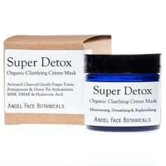 Super Detox - Organic Clarifying Crème Mask with Activated Charcoal and Pomegranate