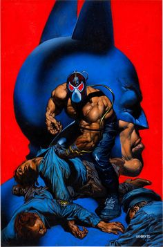 Batman Versus Bane, 2012 The New York Times Best Sellers Paperback Graphic Books winner, Chuck Dixon and others Bane Batman, Batman And Batgirl, I Am Batman, Comic Book Characters, Comic Books Art, Book Art, Marvel Dc, Illustration Batman, Graham