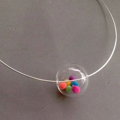 Big Bubble Gumball Necklace, Colorful pendant, Colorful necklace, Bubble necklace, Bubble Choker, Modern choker, Statement necklace, Glass by BollaCollection on Etsy