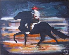 Art by Oklahoma Abstract Contemporary Equine Artist Jonelle T. McCoy