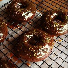 Chocolate Gingerbread Doughnuts   www.injennieskitchen.com #gingerbreadrecipes #injennieskitchen