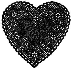 Heart Doily Art Print by Ashley G  Much Love Black by ashleyg, $ 28.00