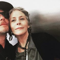 Norman Reedus and Melissa McBride Carol From Walking Dead, Daryl And Carol, Walking Man, Walking Dead Cast, Fear The Walking Dead, Walking Dead Characters, Talking To The Dead, Melissa Mcbride, Great Tv Shows