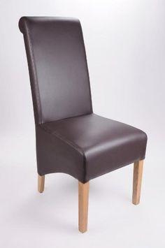 Shankar Krista Madras Chocolate Bonded Leather Chair
