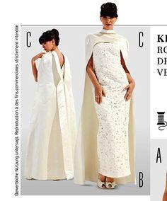 Burda Style 7093 Sew Pattern Evening Gown Wedding Bride Dress Opera Cape 10 22 | eBay