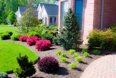Landscaping Ideas for Front Yards and Backyards for and Get our best landscaping ideas for your backyard and front yard, including landscaping design, garden ideas, flowers, and garden design. - The Silver Garden Inexpensive Landscaping, Small Front Yard Landscaping, Mulch Landscaping, Landscaping Ideas, Modern Landscaping, Country Landscaping, Landscaping Software, Mulch Ideas, Garden Mulch
