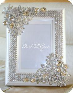Crystal Encrusted 5X7 swarovski sparkle by ZaraBellaCouture OMG LOVE