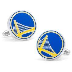 Golden State Warriors Silver Plated Cufflinks