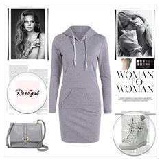 """""""Rosegal 19."""" by veca-01 ❤ liked on Polyvore featuring Giuseppe Zanotti, FOSSIL, Maybelline and Gucci"""