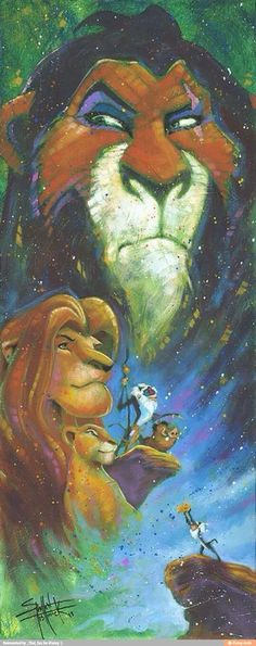 Lion King painting/collage