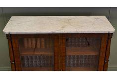 Magnificent Regency Mahogany #Antique Glazed Cabinet | Vinterior London  #marble #design #library #vintage