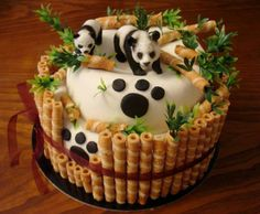 How About Trying This Amazing Bamboo Panda Cake?  - http://www.stylishboard.com/how-about-trying-this-amazing-bamboo-panda-cake/