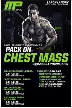 Pack on chest mass