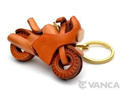 Racing Bike Leather Keychain(L)