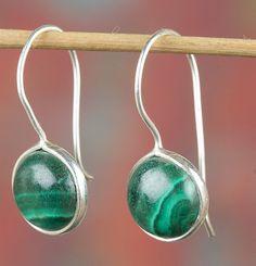 Dangle Earrings – 925 Sterling Silver Malachite Earring BJE-344-MA – a unique…