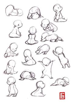 Ideas for baby drawing sketches pencil design reference Vector Character, Character Design Cartoon, Character Design Animation, Character Design References, Character Drawing, Boy Character, Character Poses, Character Sketches, Character Education