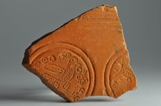 African red slip ware sherd with bird stamp 1