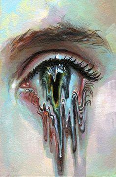 painting acrylic trippy MindMelter, an art print by Tanya Shatseva Cool Art Drawings, Art Drawings Sketches, Sketch Art, Arte Van Gogh, Afrique Art, Arte Obscura, Arte Sketchbook, Sketchbook Ideas, Eye Painting