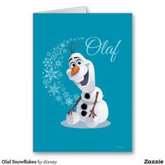 Disney Frozen Olaf Greeting Card #DisneyFrozen