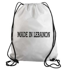 66292d3865 Made in Lebanon Drawstring Gym Bag Tote Boat Stickers