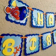 Finding Dory Birthday Banner, Finding Dory Birthday, Finding Dory Birthday Party, Finding Dory Birthday Shirt, Finding Dory Party, Dory by gramspartybanners on Etsy https://www.etsy.com/listing/474909759/finding-dory-birthday-banner-finding
