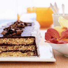 Triple-Layer Chocolate Macaroon Cake